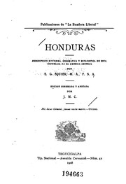 Cover of: Honduras: descripcion historica