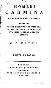 Cover of: Carmina cvm brevi annotatione