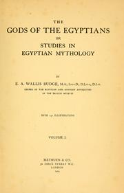 Cover of: The Gods of the Egyptians or Studies in Egyptian Mythology