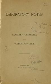 Cover of: Laboratory notes