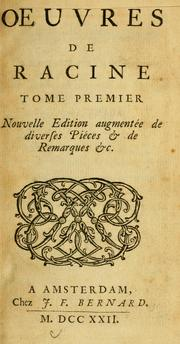 Cover of: Oeuvres de Racine