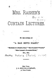 Cover of: Mrs. Rasher's curtain lectures ..