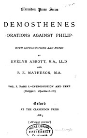 Cover of: Orations against Philip