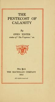 Cover of: The Pentecost of calamity