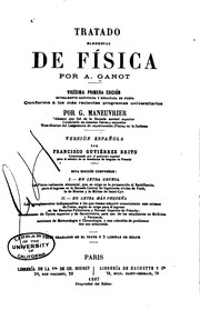 Cover of: Tratado elemental de física