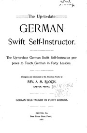 Cover of: The up-to-date German swift self-instructor ..