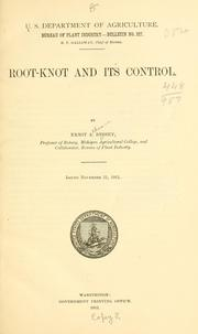 Cover of: Root-knot and its control