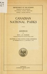 Cover of: Canadian national parks