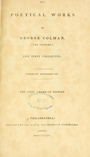 Cover of: The poetical works of George Colman, (the younger:)