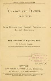 Cover of: Caxton and Daniel selections