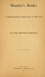 Cover of: Hamlet's brides