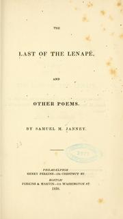 Cover of: The last of the Lenapé, and other poems