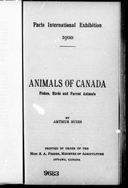 Cover of: Animals of Canada: fishes, birds and furred animals