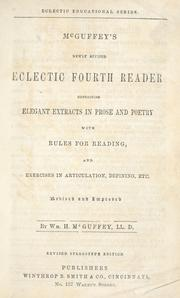 Cover of: McGuffey's newly revised eclectic fourth reader