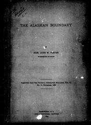 Cover of: The Alaskan boundary