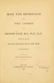 Cover of: Man: the microcosm and the Cosmos