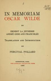 Cover of: In memoriam, Oscar Wilde