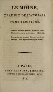 Cover of: Le moine