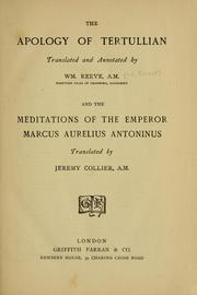 Cover of: The apology of Tertullian: with English notes and a preface intended as an introduction to the study of patristical and ecclesiastical latinity