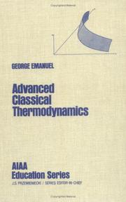 Cover of: Advanced classical thermodynamics