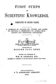Cover of: First steps in scientific knowledge