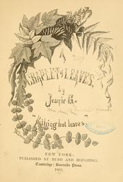 Cover of: A chaplet of leaves
