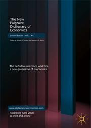 Cover of: The New Palgrave