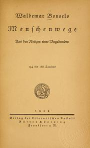 Cover of: Menschenwege