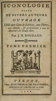 Cover of: Iconologie tirée de divers auteurs.