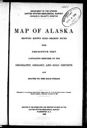 Cover of: Map of Alaska showing known gold-bearing rocks