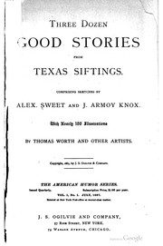 Cover of: Three dozen good stories for Texas siftings