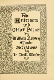 Cover of: The anteroom and other poems ..