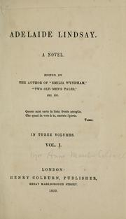 Cover of: Adelaide Lindsay: a novel