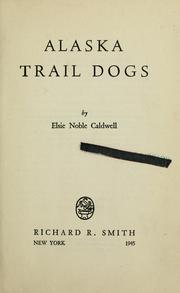 Cover of: Alaska trail dogs