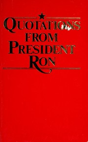 Cover of: Quotations from President Ron