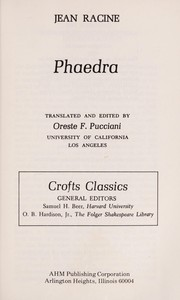 Cover of: Phèdre