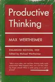 Cover of: Productive thinking
