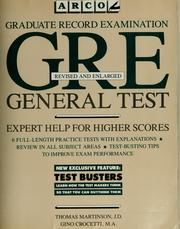 Cover of: GRE