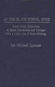Cover of: As the Black school sings