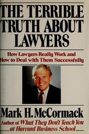 Cover of: The terrible truth about lawyers