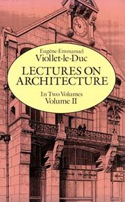 Cover of: Lectures on architecture