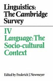 Cover of: Language