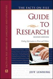 Cover of: The Facts On File guide to research
