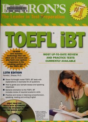Cover of: TOEFL iBT