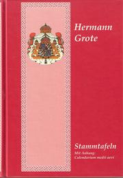 Cover of: Stammtafeln