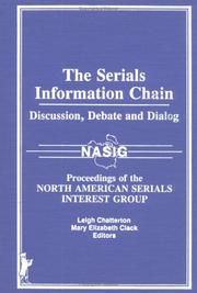 Cover of: The serials information chain