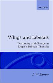 Cover of: Whigs and liberals