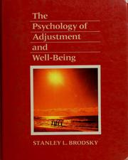 Cover of: The psychology of adjustment and well-being