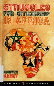 Cover of: Struggles for citizenship in Africa