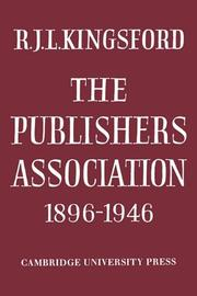 Cover of: The Publishers Association 1896-1946
